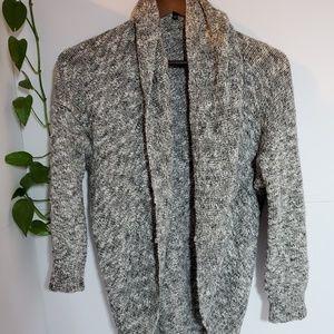 Aritzia Babaton cocoon grey marled linen cardigan